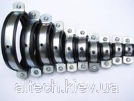 Хомут для кріплення труб з гайкою і виброгасителем (гумове ущільнення)