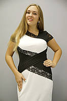Мадлен. Платья супер батал. Белый.