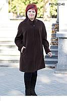 Укороченное  пальто  силуэта  трапеция  для  женщин  больших  размеров 62 64 66 68