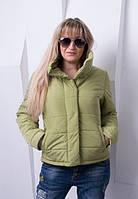 Стильная фисташковая куртка  BONI ТМ VICCO 44-54 размеры