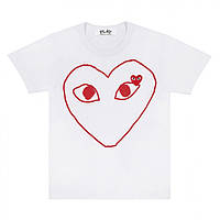 Футболка |Comme des garcons| two logo red