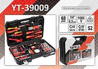 Набор инструмента для электрика 68 шт.,  YATO YT-39009, фото 1