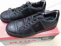 Молодежные мужские туфли  из натуральной  кожи МИДА 110042