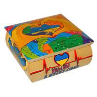 Деревянная шкатулка с ручной росписью ТМ Дерево