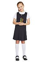 Школьный сарафан темно-синий для девочек 5-6-7-8-9-10-11 лет Pleat Pinafore F&F (Aнглия), фото 1