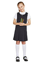 Школьный сарафан темно-синий для девочек 5-6-7-8-9-10-11 лет Pleat Pinafore F&F (Aнглия)