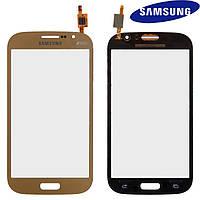 Touchscreen (сенсорный экран) для Samsung Galaxy Grand Neo Plus i9060i, оригинал, золотистый