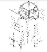Подушка кабини нижня, T8040-50/MX310, 1286903C1
