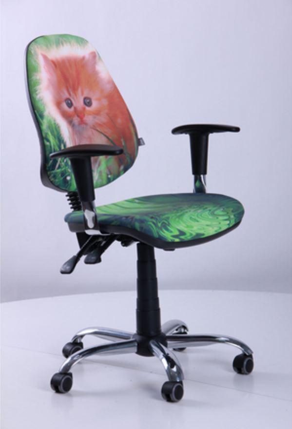 Кресло Бридж Хром Дизайн №11 Котенок (фото 2)