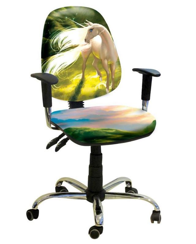 Кресло Бридж Хром Дизайн № 13 Единорог