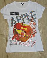 Футболка на девочку яблоко
