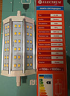 Лампа светодиодная LED линейная в прожектор R7s Electrum LL-36 10W 4000K