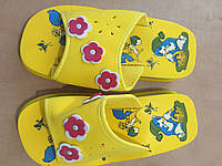 Шлепанцы детские желтые 26 27 33  размер