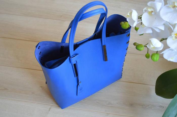 Синяя сумка-шоппер VirginiaConti
