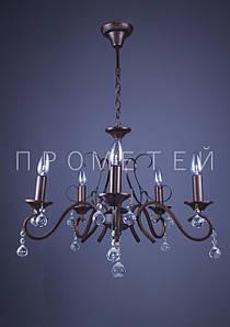 """Классическая люстра """"свеча"""" на 5 лампочек  P3-2627/5/PG"""