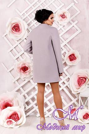 Элегантное женское демисезонное пальто пастельного оттенка  (р. 44-62) арт. 997 Тон 19, фото 2