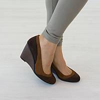 Туфли Woman's heel 38 коричневые (О-568), фото 1
