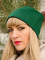 Фэшн. Молодёжные женские шапки. Зеленый.