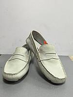 Туфли-мокасины женские на плоской подошве светлые Storm