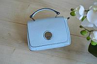 Голубая кожаная сумка Virginia Conti