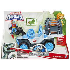Набор Jurassic World Джип c динозавром и фигуркой Playskool Heroes Hasbro B0535/B0534