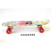 Скейт пенни борд 0748-1 (Светящие колеса)