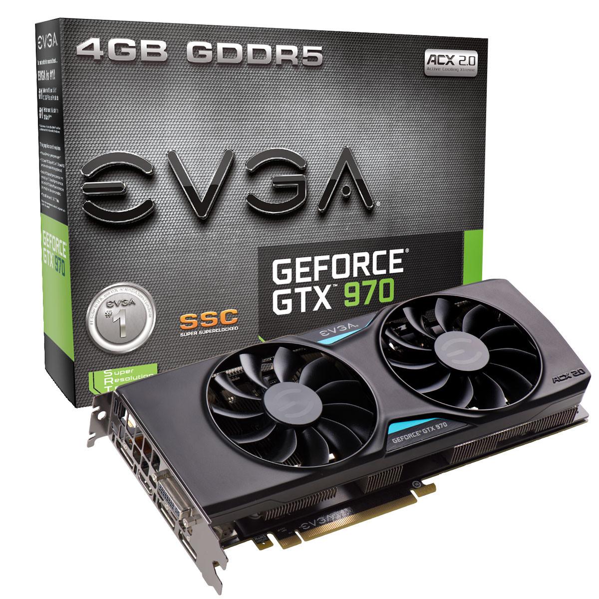 "Видеокарта EVGA GTX970 SSC 4GB GDDR5 ""Over-Stock"" Б/У"