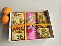 Набор кухонных полотенец в подарочной упаковке