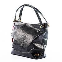 Черная сумка с элементами лакового декора art. 1374darkl
