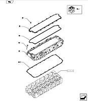 Прокладка проставки кришки клапанів, T8.390/MX340,  504296783