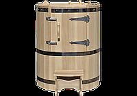 Кедровая бочка овальная «Классическая» со встроенным парогенератором