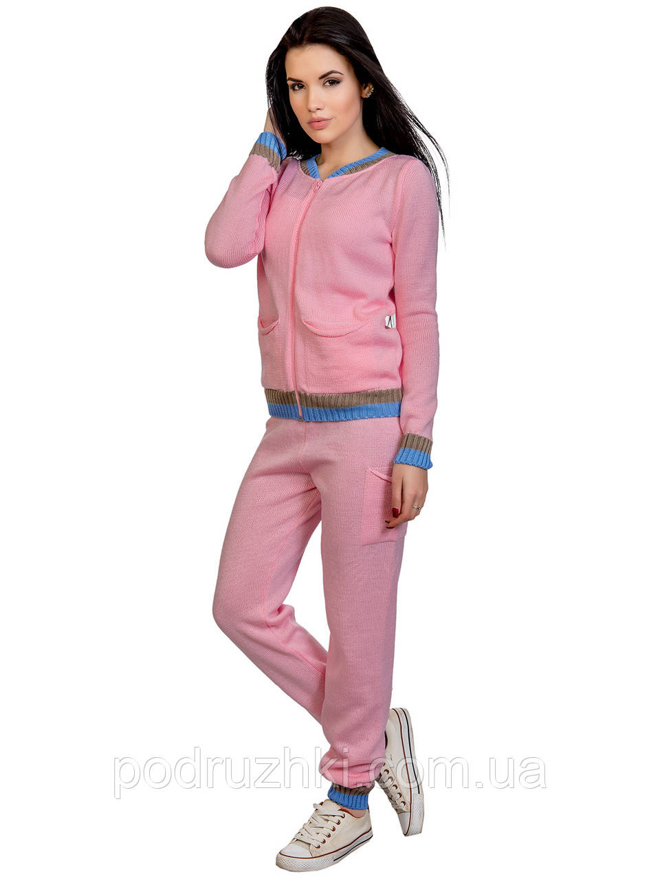 c05db44a79e8 Женский спортивный костюм из вязаного трикотажа - Интернет-магазин