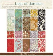 Скрап бумага Best of Damask_1  My Mind's Eye, 60 шт.