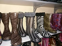 Стильные женские силиконовые сапоги Березень