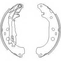 Тормозные колодки FIAT DOBLO/Фиат Добло (223_, 119_ ) 03/2001 -09/2005 барабанные, Q-TOP (Испания) QD2420