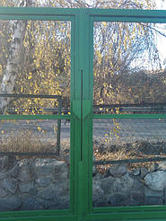 Широкие откатные ворота для проездов до 16 метров. Фундаментные работы, изготовление, автоматизация в Киеве и Киевской области (Обуховский р-н)