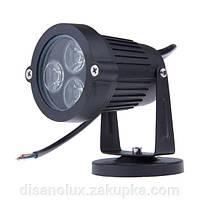 Светильник ландшафтный LED 9W 265V черный IP65