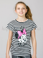 Детская трикотажная футболка в полоску Минни Маус, Golfstream