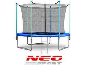 Батут NeoSport Hero 252 см. с внутренной сеткой и лесенкой, фото 2