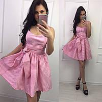 Платье -сарафан с пышной юбкой (розовое. беж. черное, красное)