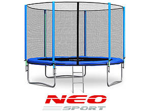 Батут NeoSport 252 см. с сеткой и лесенкой, фото 2