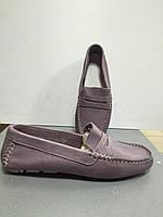Туфли-мокасины женские без каблука сиреневого цвета Storm