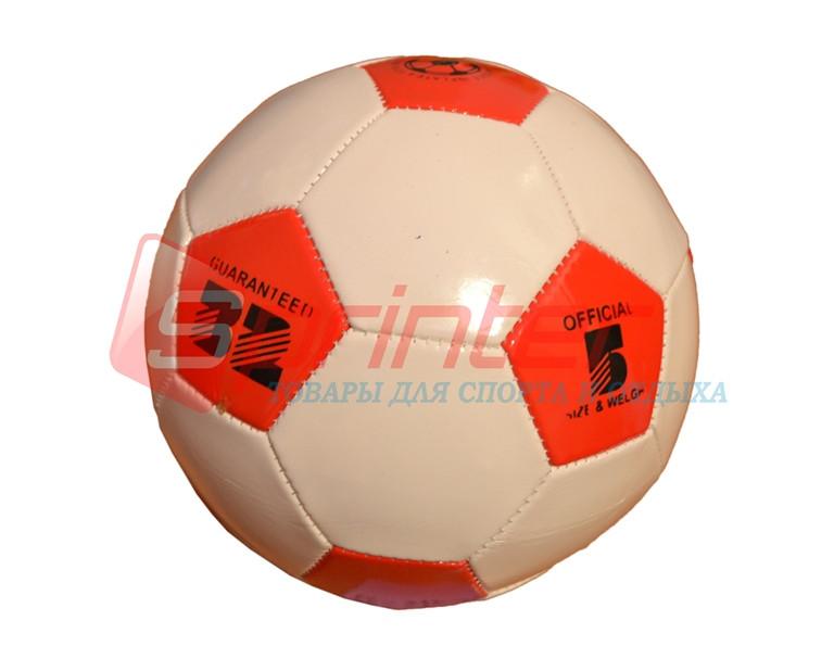 Мяч футбольный №5 детский,красно-белый. Р-НВК