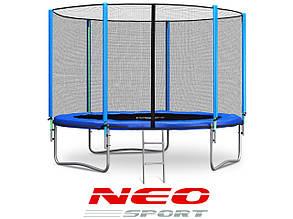 Батут NeoSport 312 см с сеткой и лесенкой, фото 2