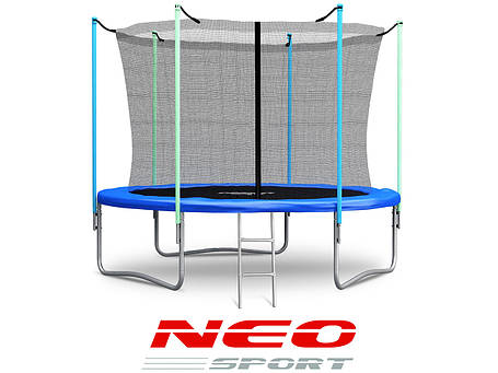 Батут NeoSport 312 см. с внутренной сеткой и лесенкой, фото 2
