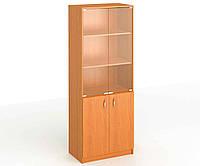 Шкаф со стеклом высокий