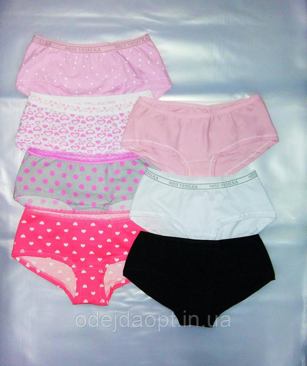 Подростковые трусы--шорты для девочки 9,10,11,12,13 лет
