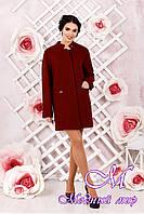 Элегантное женское демисезонное пальто цвета кирпич батал (р. 44-62) арт. 997 Тон 6