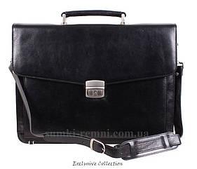 Кожаный мужской портфель 3512 черный