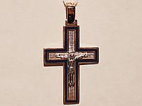 Золотой крестик. Распятие Христа. Артикул 505014с
